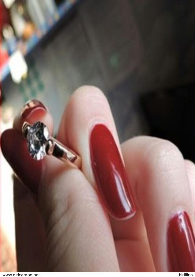 Anello Da Donna  925 Argento Sterling Color Oro Misura 49 Mm - Anelli