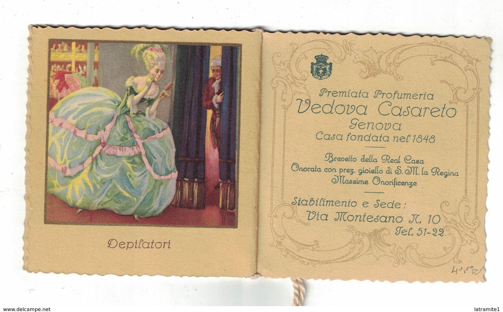 CALENDARIETTO  PREMIATA PROFUMERIA VEDOVA CASARETO GENOVA  1924 - Calendari