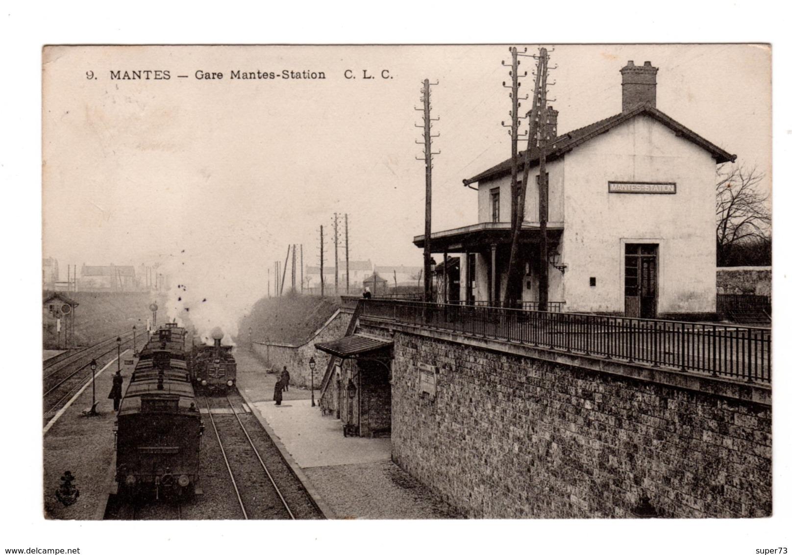 CPA 78 - Mantes - Gare Mantes Station , Train - Francia