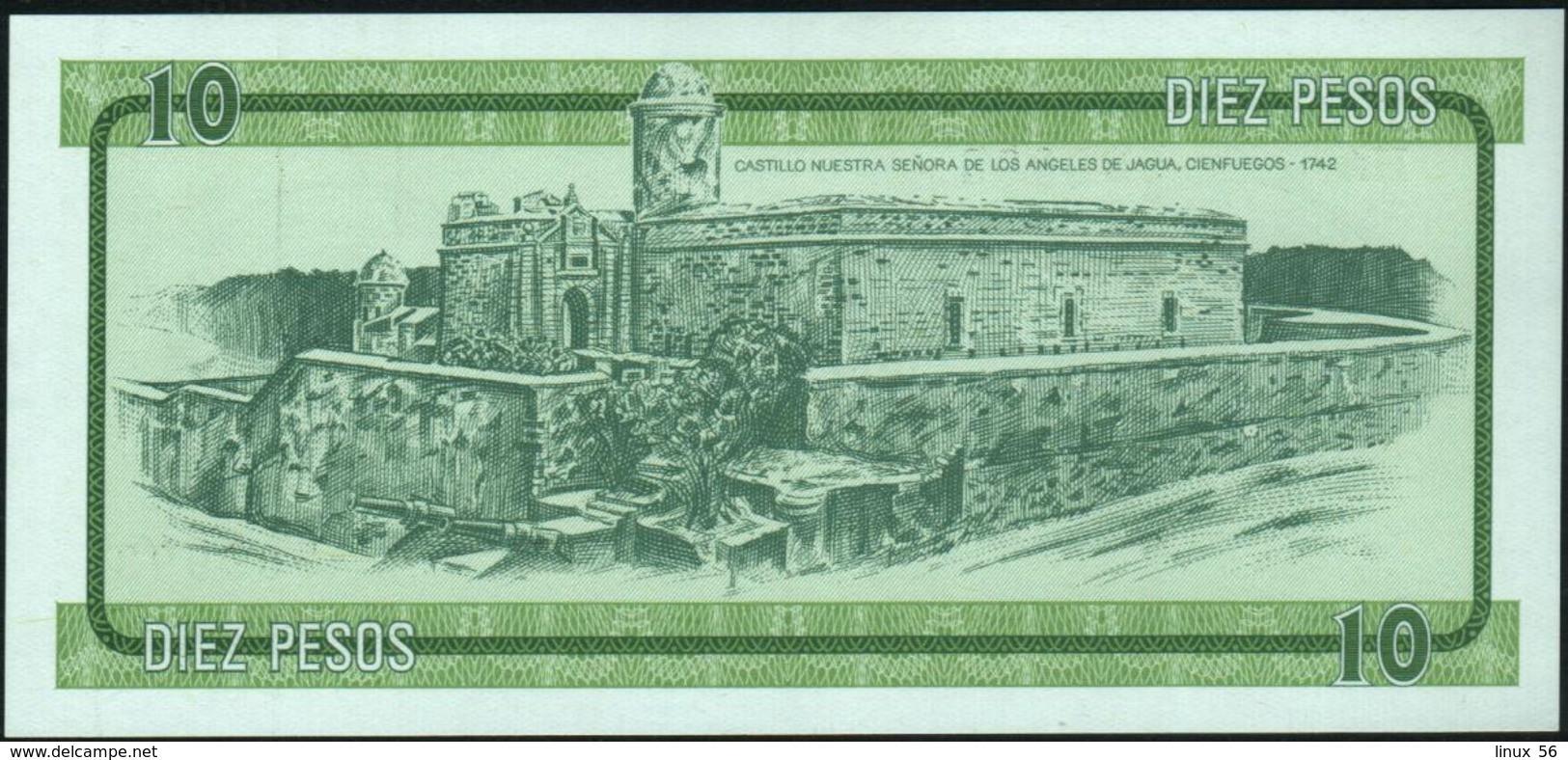 CUBA - 10 Pesos Nd.(1985) {Foreign Exchange Certificates} UNC P. FX8 - Cuba
