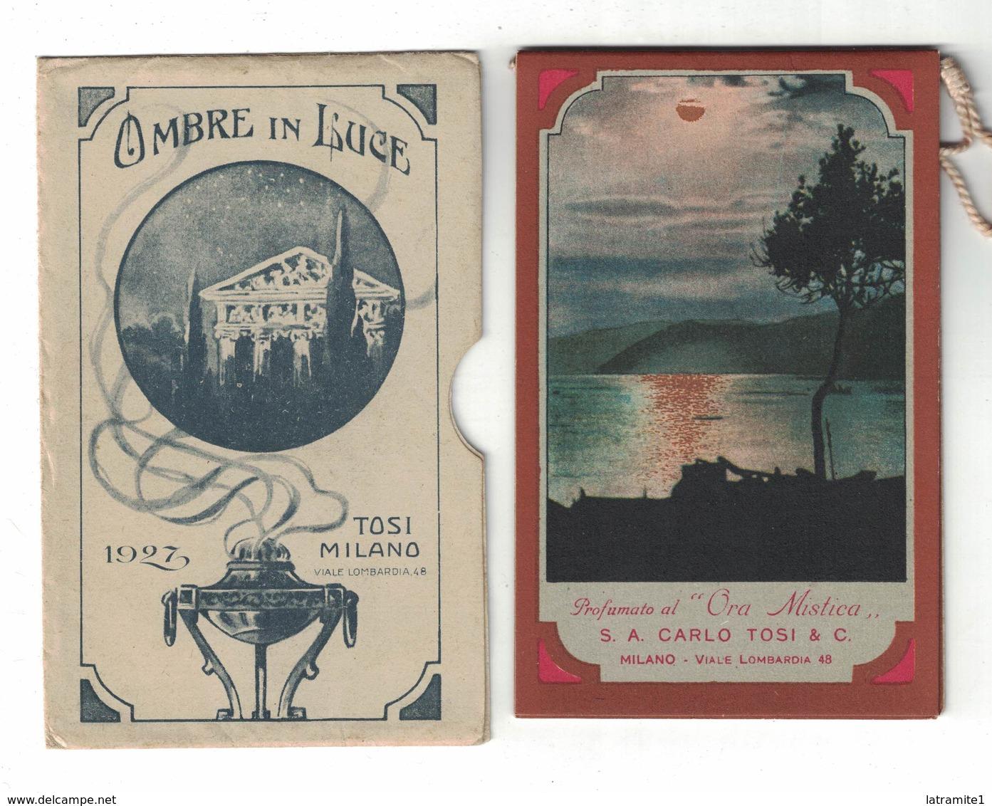 CALENDARIETTO  TOSI  1927  OMBRE IN LUCE - Calendari