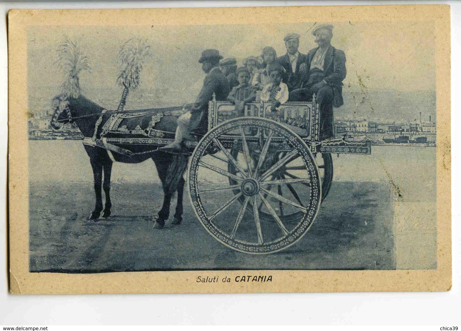 C 186  -    Saluti Da Catania  -  Carro Siciliano - Other