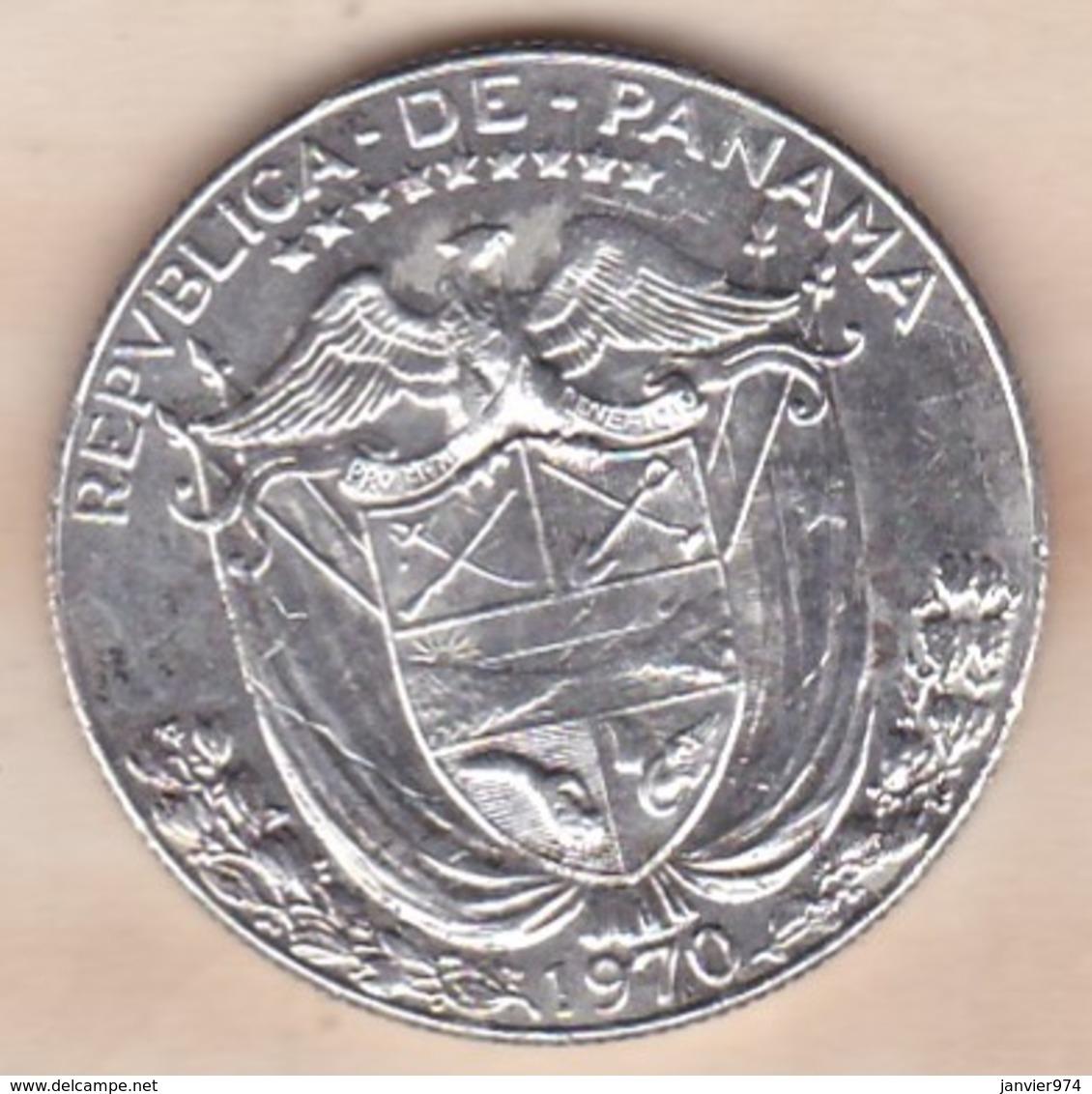 Panama.1/2 (Medio) Balboa 1970, En Argent. KM# 12a - Panama