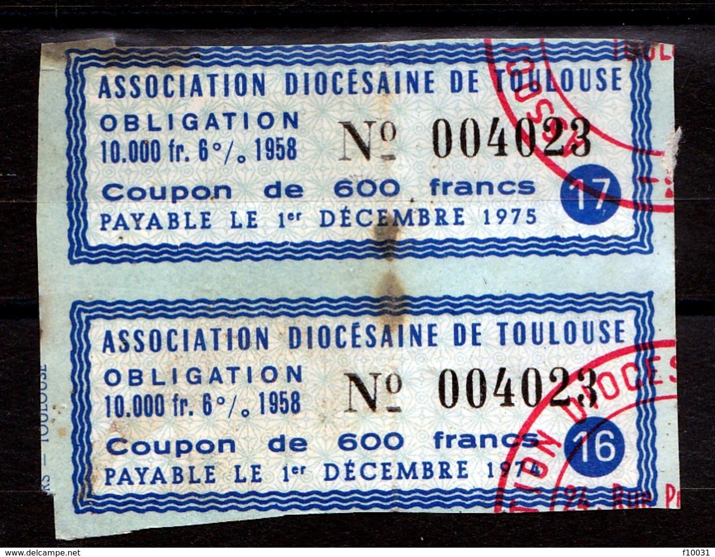 Association Diocésaine De Toulouse Obligation Bloc De 2 - Aandelen