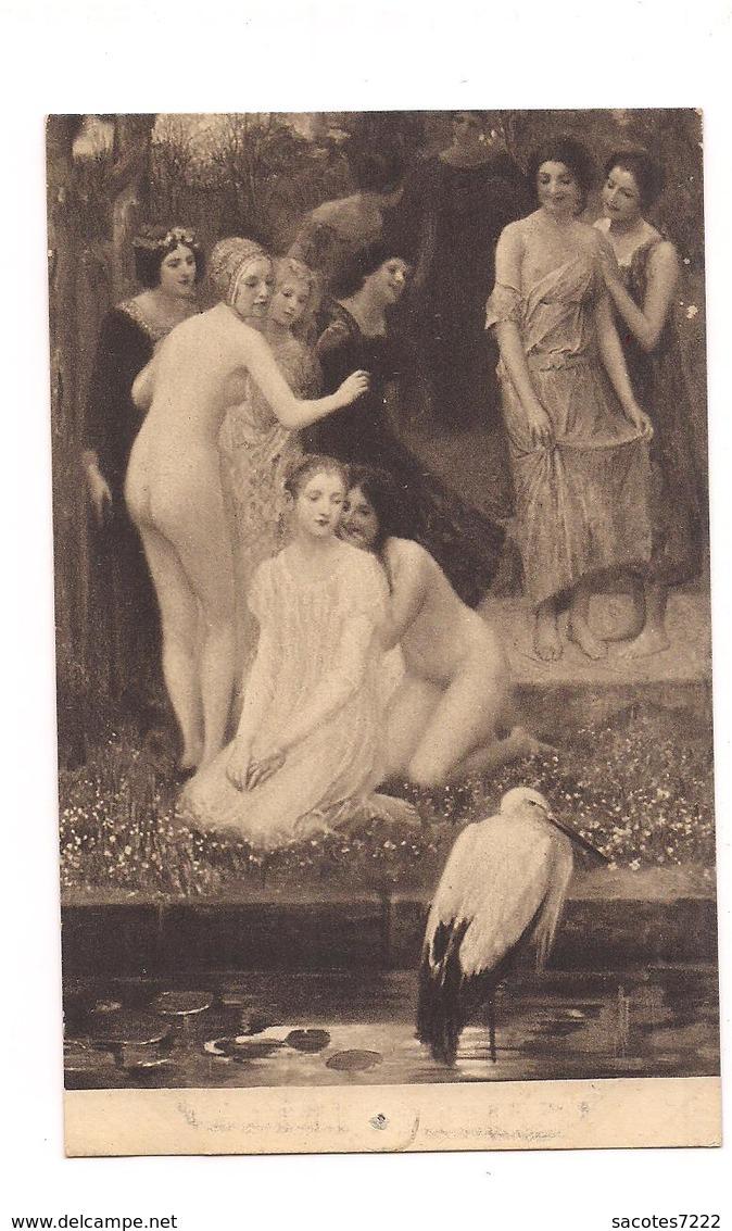 FEMMES NUES COPIE DE TABLEAU - L'OISEAU DE LA FABLE - (Moderner Kunstverlag Berlin) 5013/1 - - Tableaux