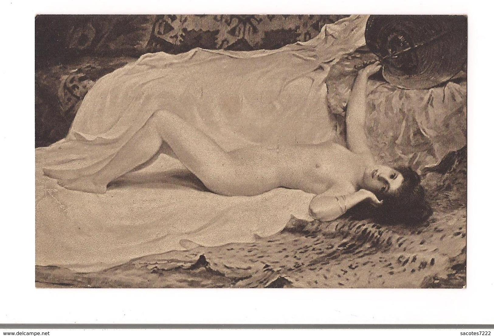 FEMME NUE COPIE DE TABLEAU -  DUFAUX : Phantasie -  (Moderner Kunstverlag Berlin) 5014/3 - Tableaux