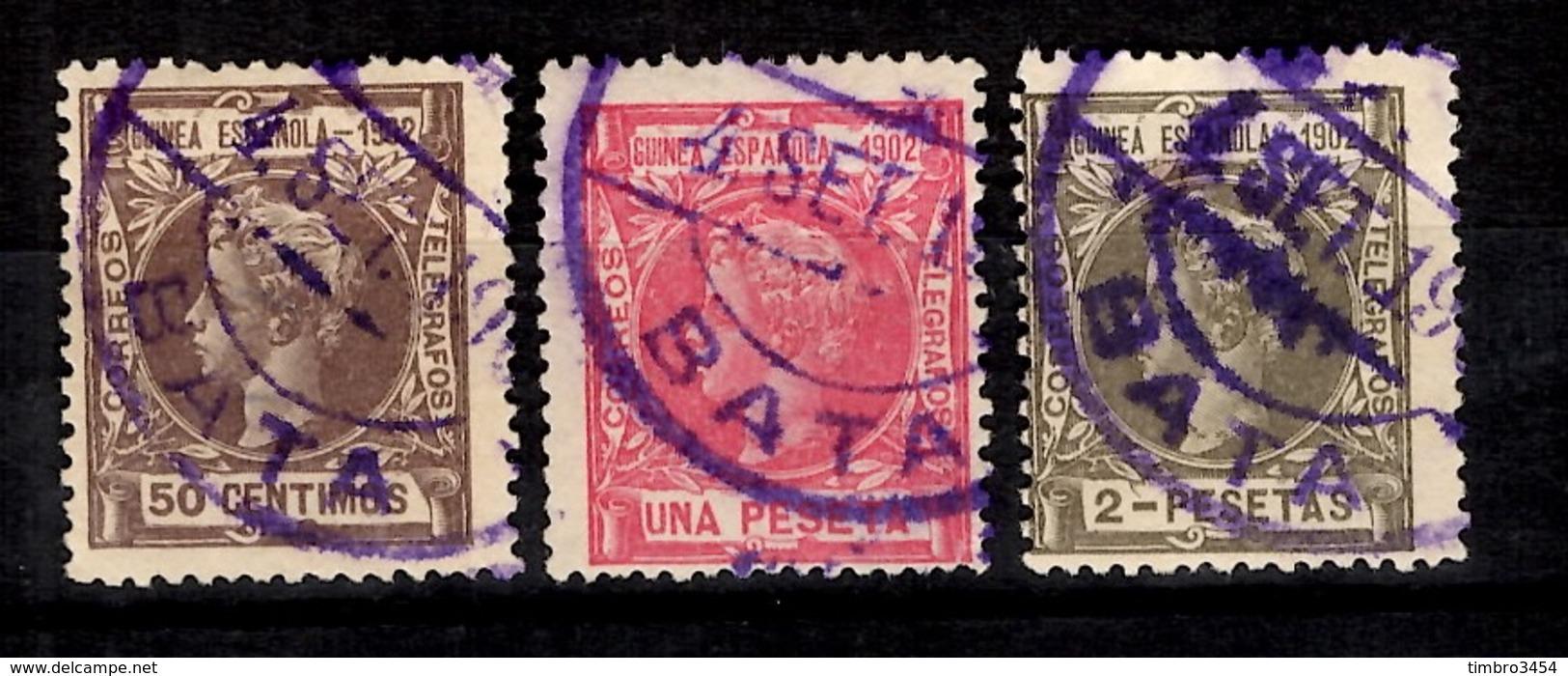 Guinée Espagnole YT N° 4, N° 6 Et N° 7 Oblitérés. B/TB. A Saisir! - Guinée Espagnole