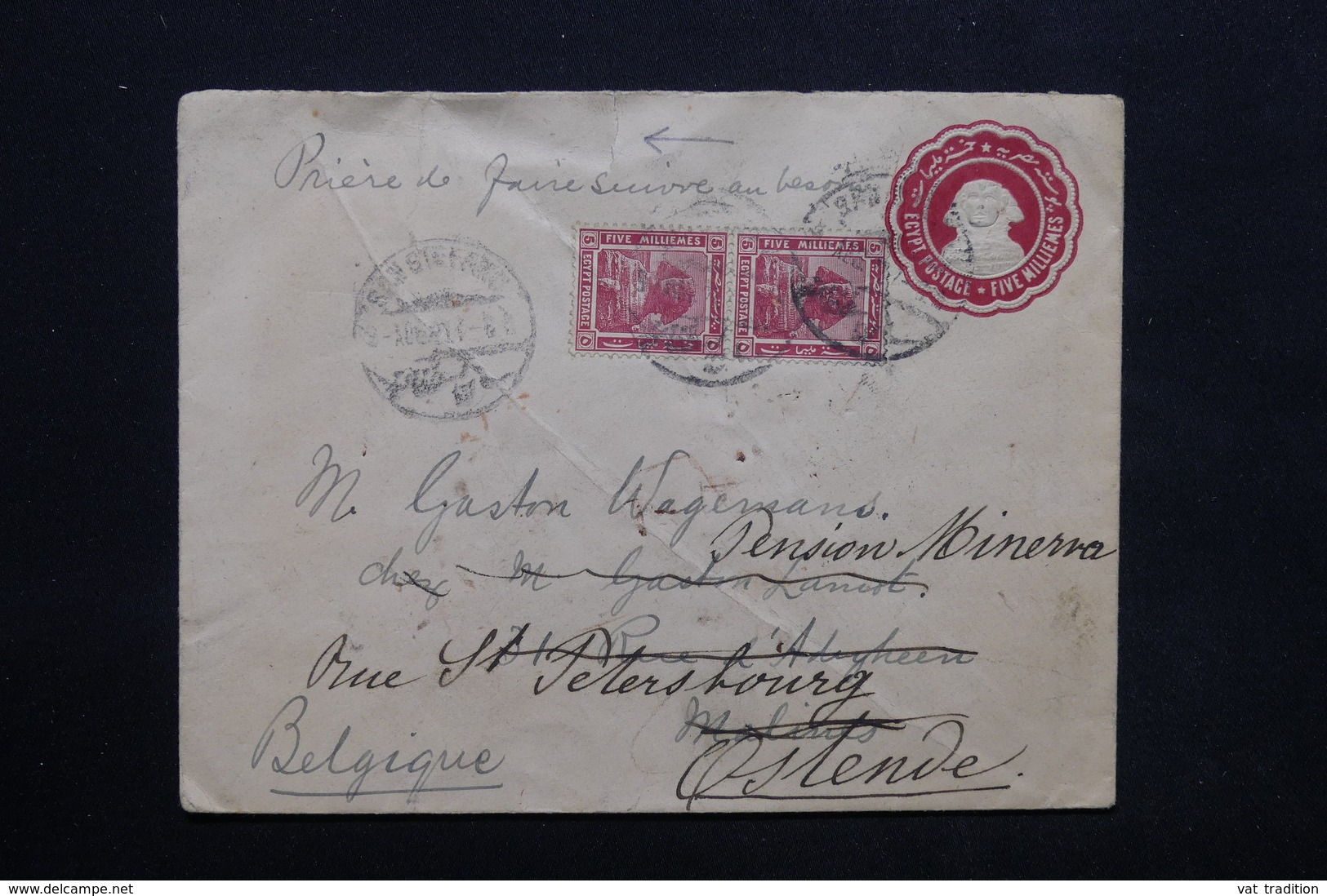 EGYPTE - Entier Postal + Complément Pour La Belgique En 1921 - L 24789 - Égypte