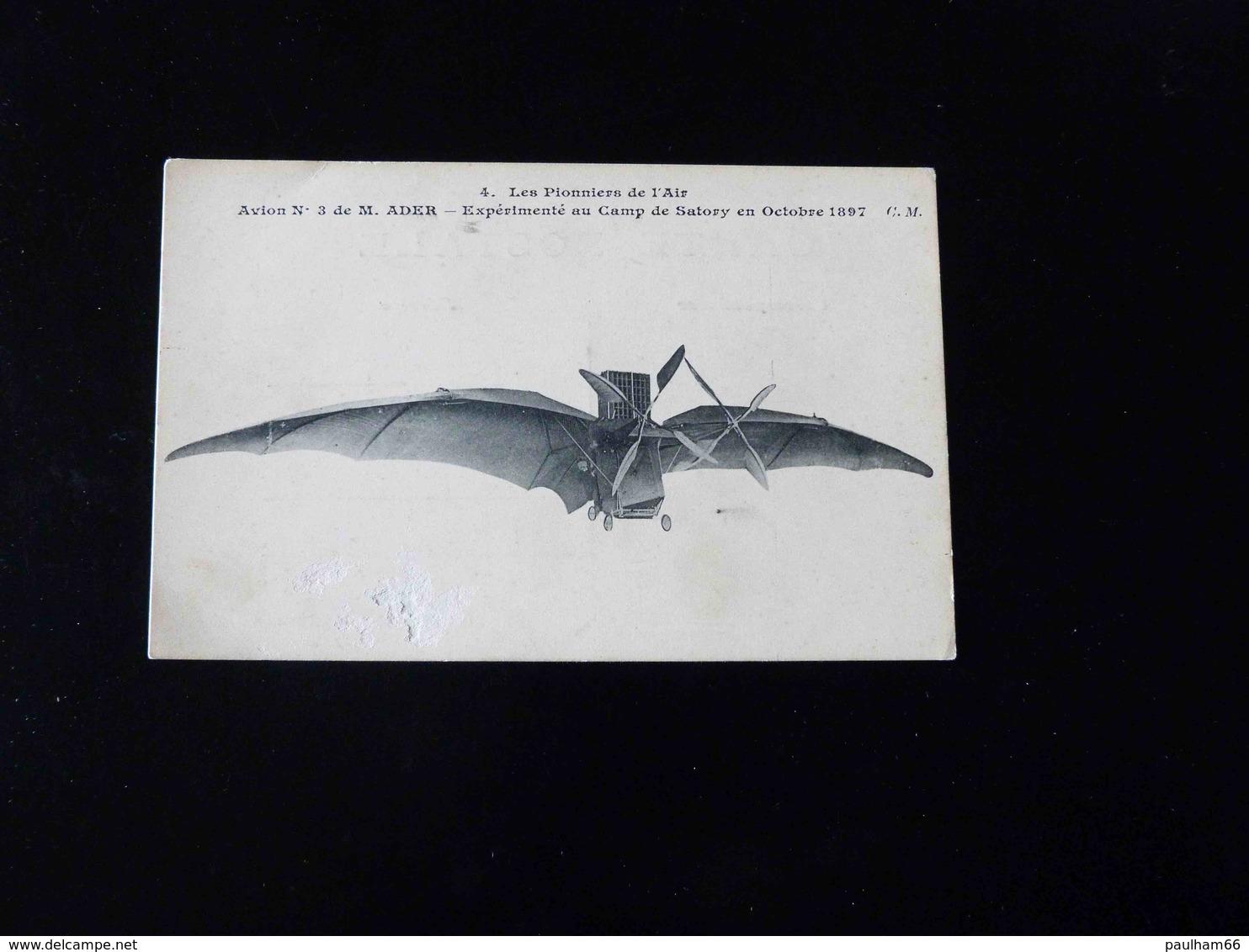 LES PIONNIERS DE L'AIR   AVION N°3 DE ADER - Dirigeables