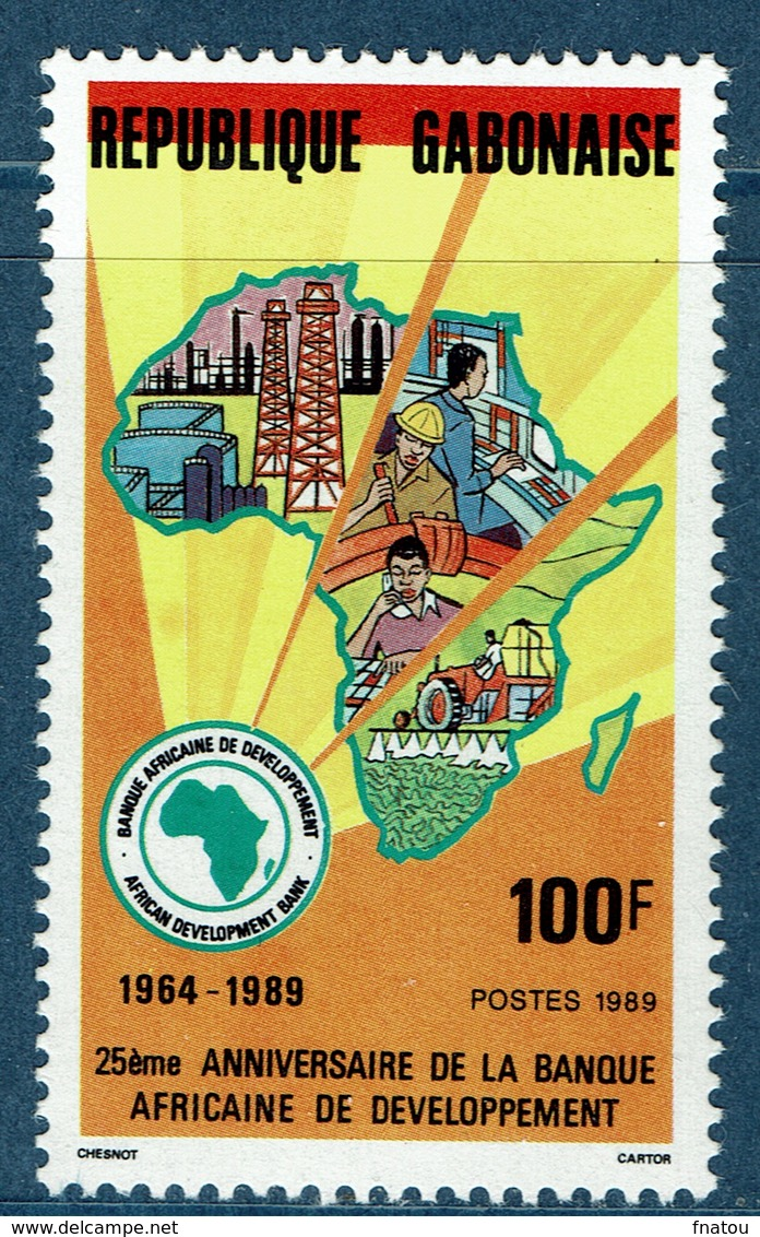 Gabon, African Development Bank 1989,  MNH VF - Gabon