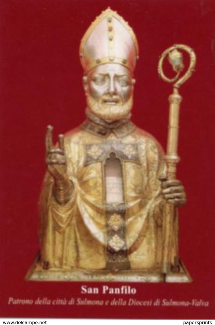 Sulmona - Santino SAN PANFILO, Diocesi Di Sulmona-Valva - PERFETTO P86 - Religione & Esoterismo