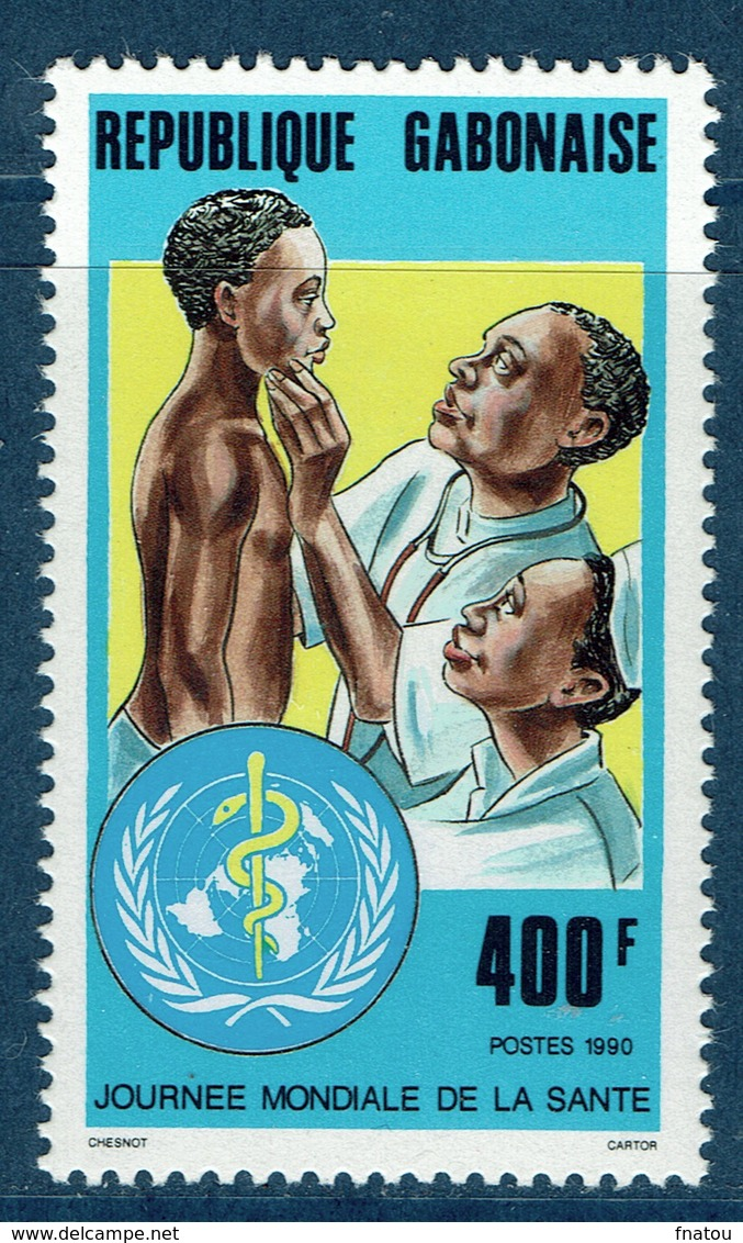 Gabon, World Health Day, WHO, 1990,  MNH VF - Gabon