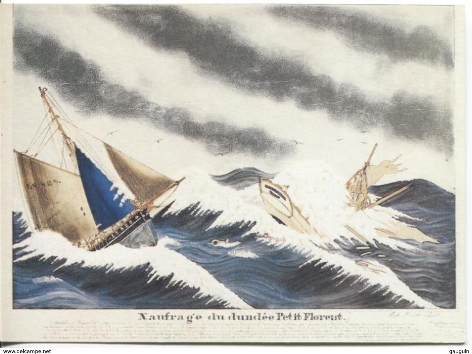 CPM - ILLUSTRATION Paul-Emile PAJOT - Naufrage Du Dundee Petit Florent - Edition Chasse-Marée Armen (format 16.5x12) - Pêche