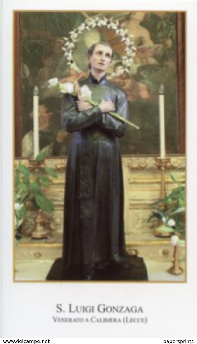 Calimera, Lecce - Santino SAN LUIGI GONZAGA - PERFETTO P86 - Religione & Esoterismo