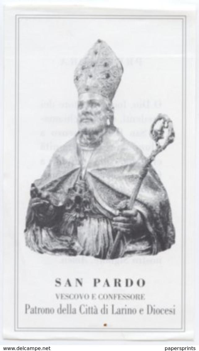 Larino, Campobasso - Santino SAN PARDO VESCOVO E CONFESSORE - P86 - Religione & Esoterismo