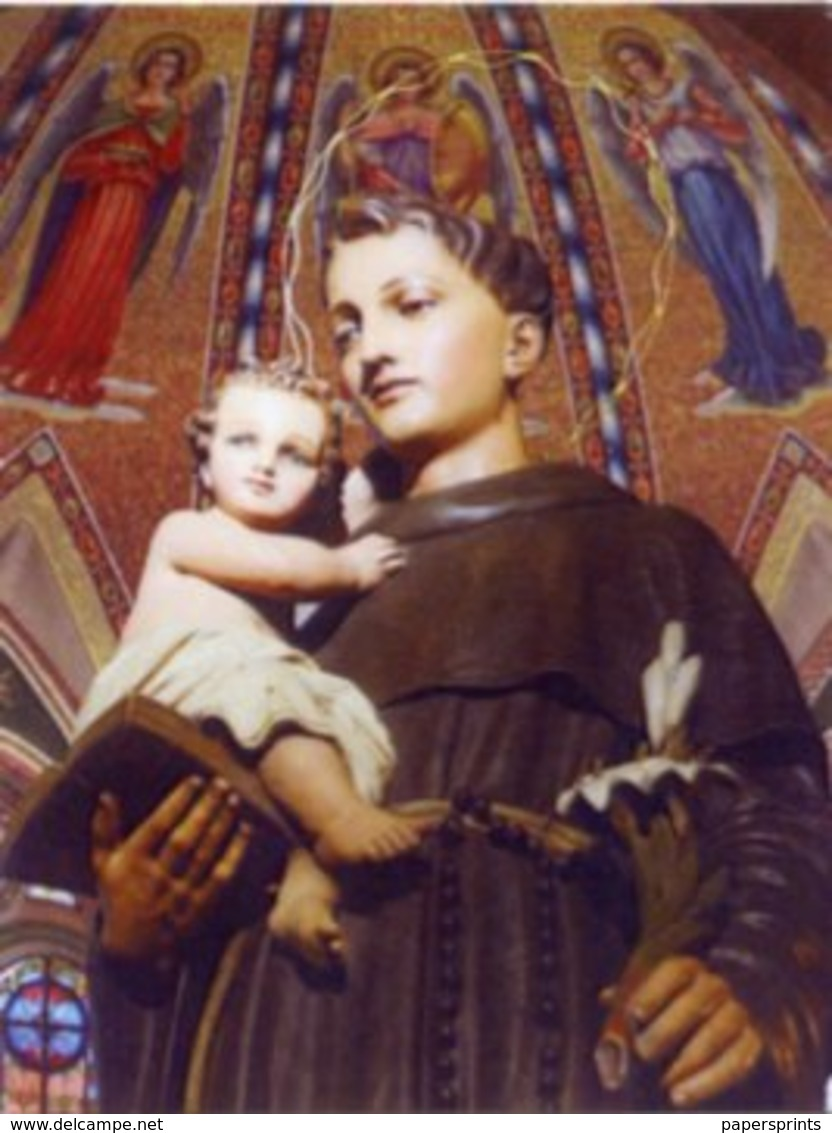 Pescara - Santino SANT'ANTONIO DI PADOVA - OTTIMO P86 - Religione & Esoterismo