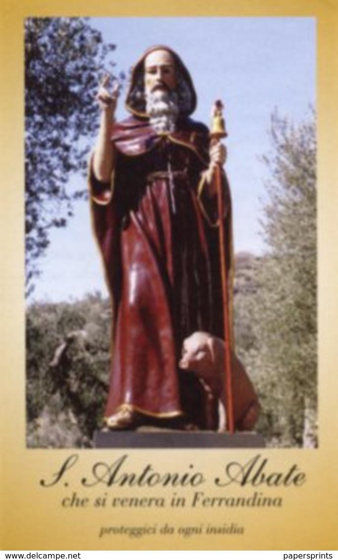 Ferrandina, Matera - Santino SANT'ANTONIO ABATE - OTTIMO P86 - Religione & Esoterismo