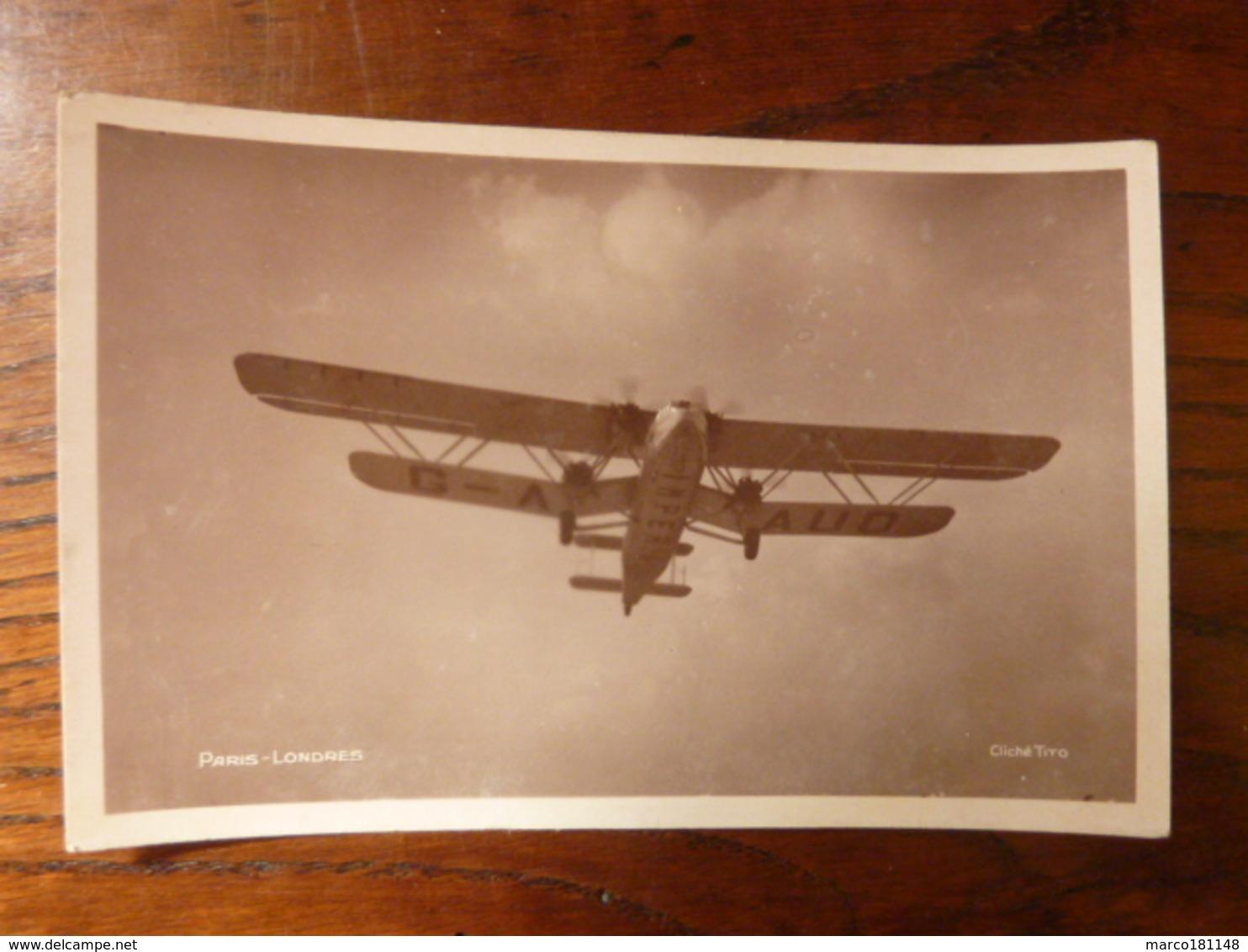 """Avion """"Hanno"""" TYPE HANDLEY PAGE 42 Faisant Route De Londres-Paris-Les Indes - Avions"""