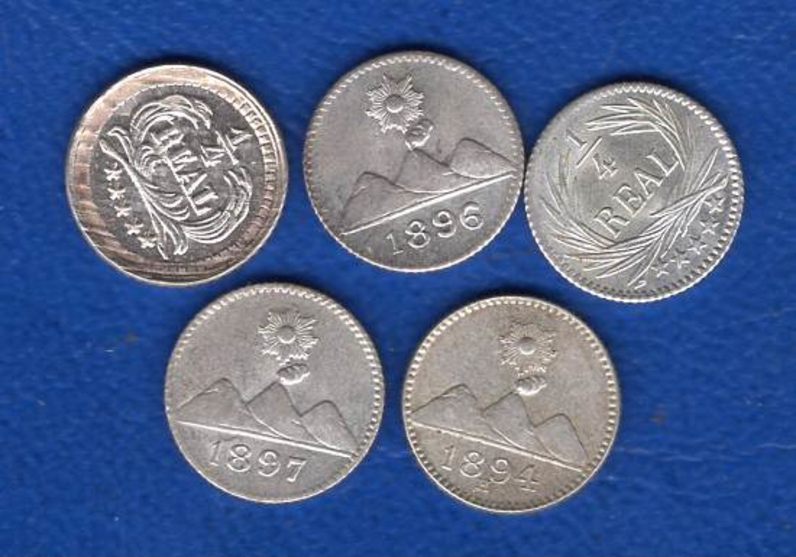 Guatemala  5  Pieces  1/4  Real - Guatemala