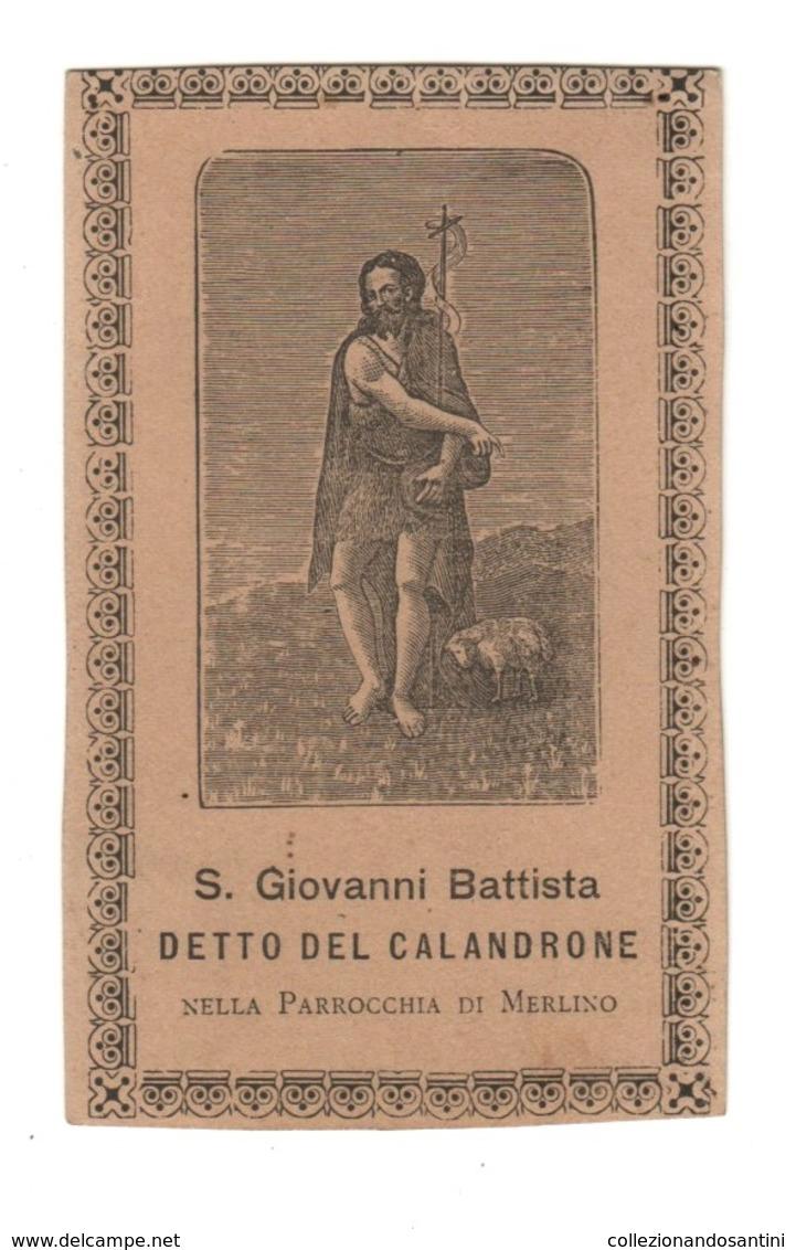 Santino Antico San Giovanni Battista Del Calandrone Da Lodi - Religione & Esoterismo
