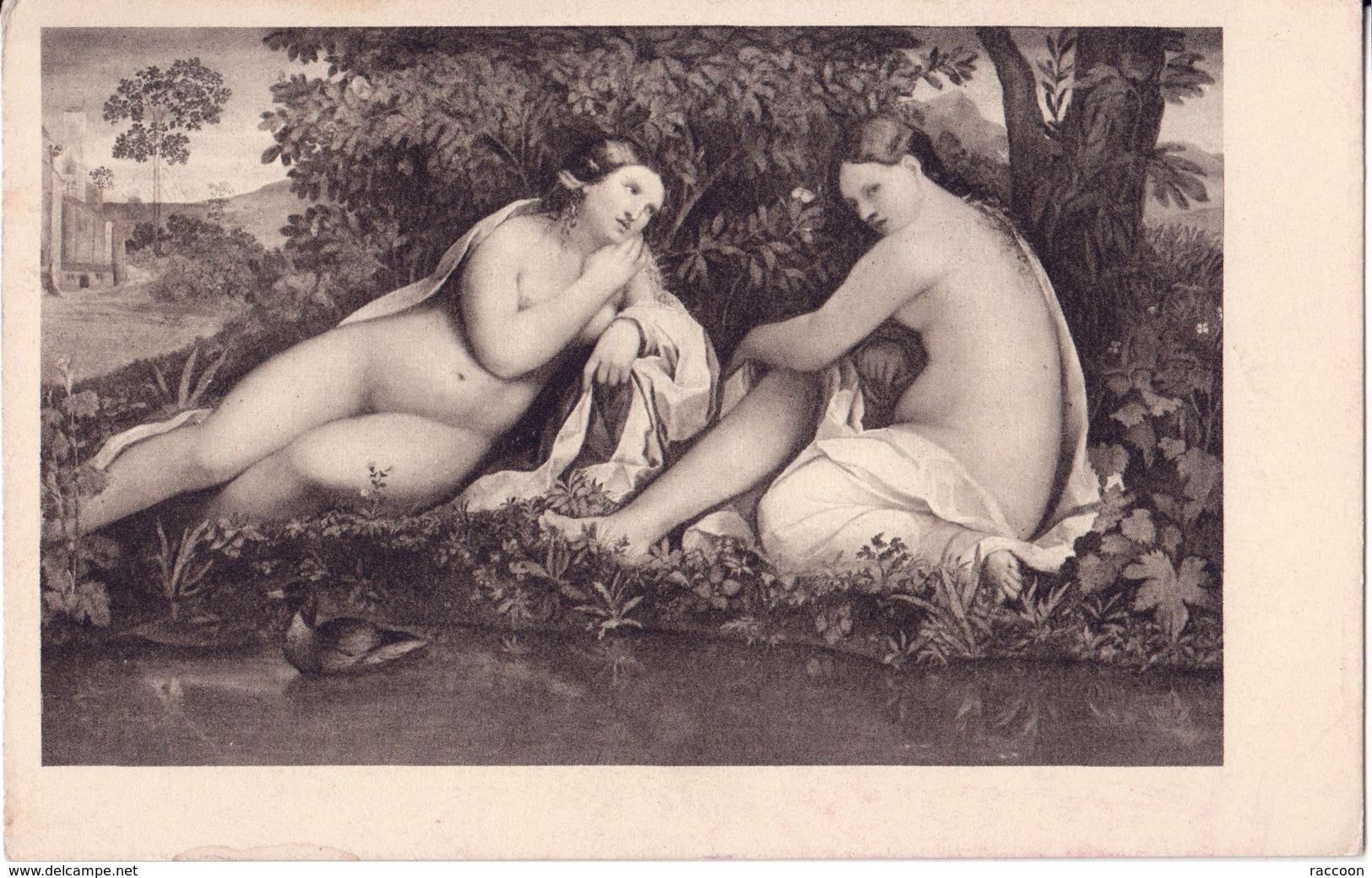 VECCHIO: Scène Mythologique  [ Nu Femme CPA Allemande ] ER034 - Tableaux