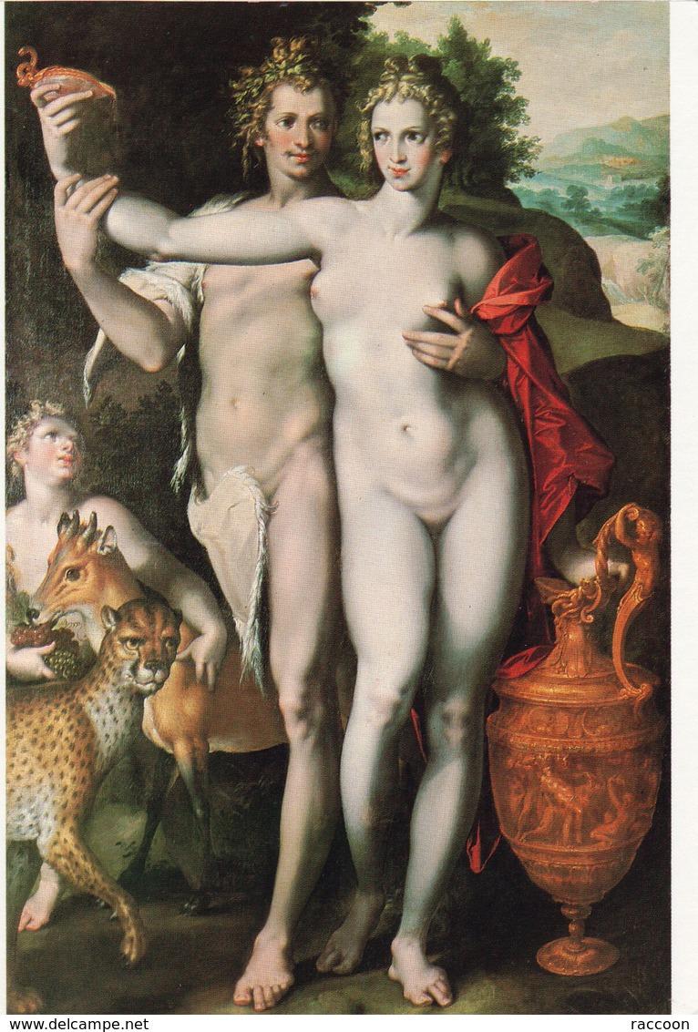 SPRANGER: Bacchus Et Vénus [ Nu Femme CPM Allemande ] ER037 - Tableaux
