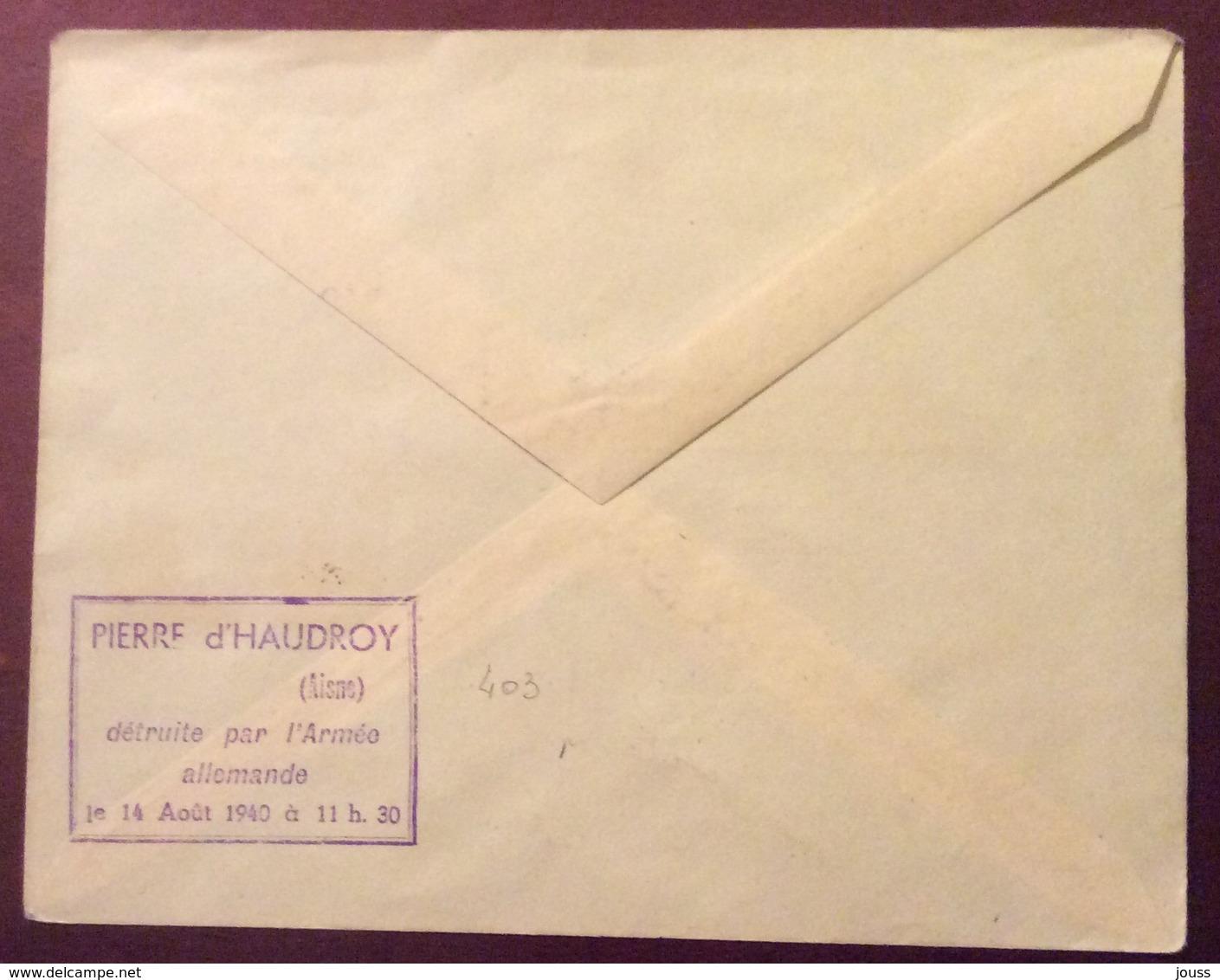D30 N°403 Aisne Haudroy 20ème Anniversaire N°731 Comité Du Souvenir 6/11/1938 - France
