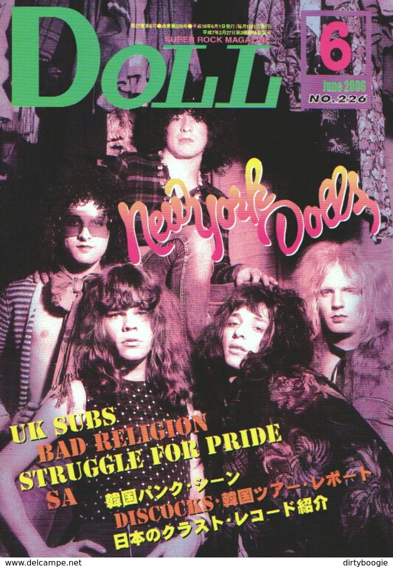 DOLL N° 226 - Juine 2006 - JAPON - NEW YORK DOLLS - BAD RELIGION - Nikki SUDDEN - UK SUBS - Syd BARRETT - STREET DOGS - Bücher, Zeitschriften, Comics