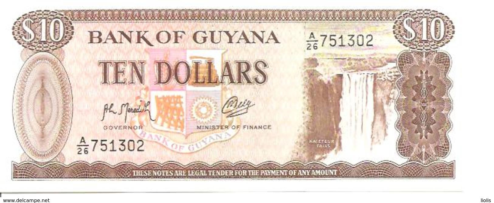 Guyana  P-23f  10 Dollars  1992  UNC - Guyana