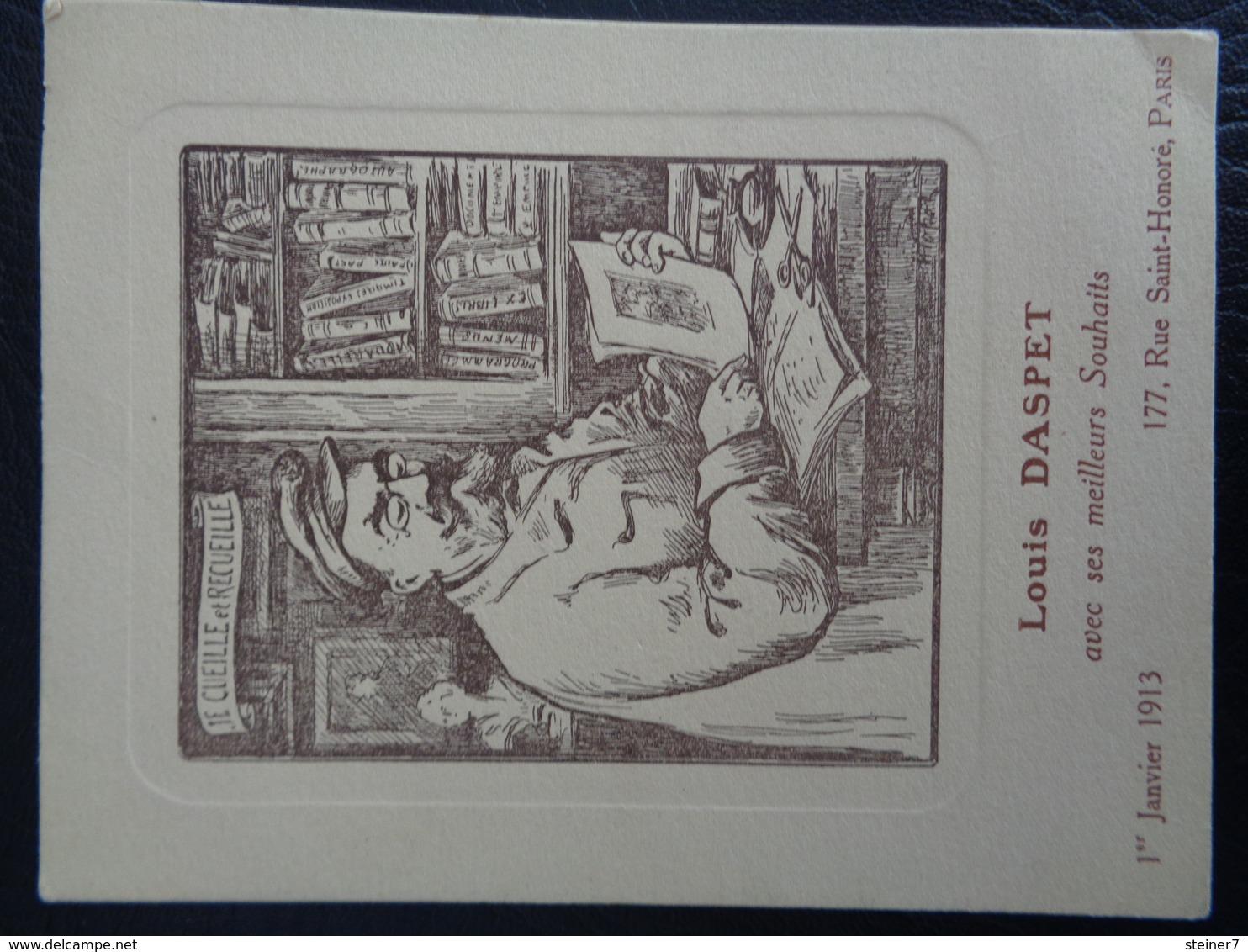 Carte De Souhaits De Louis Daspet (1913) - Non Classificati