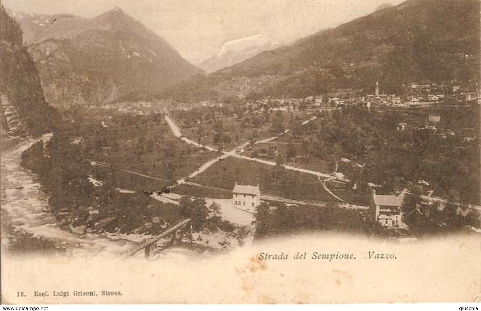 (C).Vazzo(VB).Strada Del Sempione.F.to Piccolo.Viaggiata (c17) - Verbania