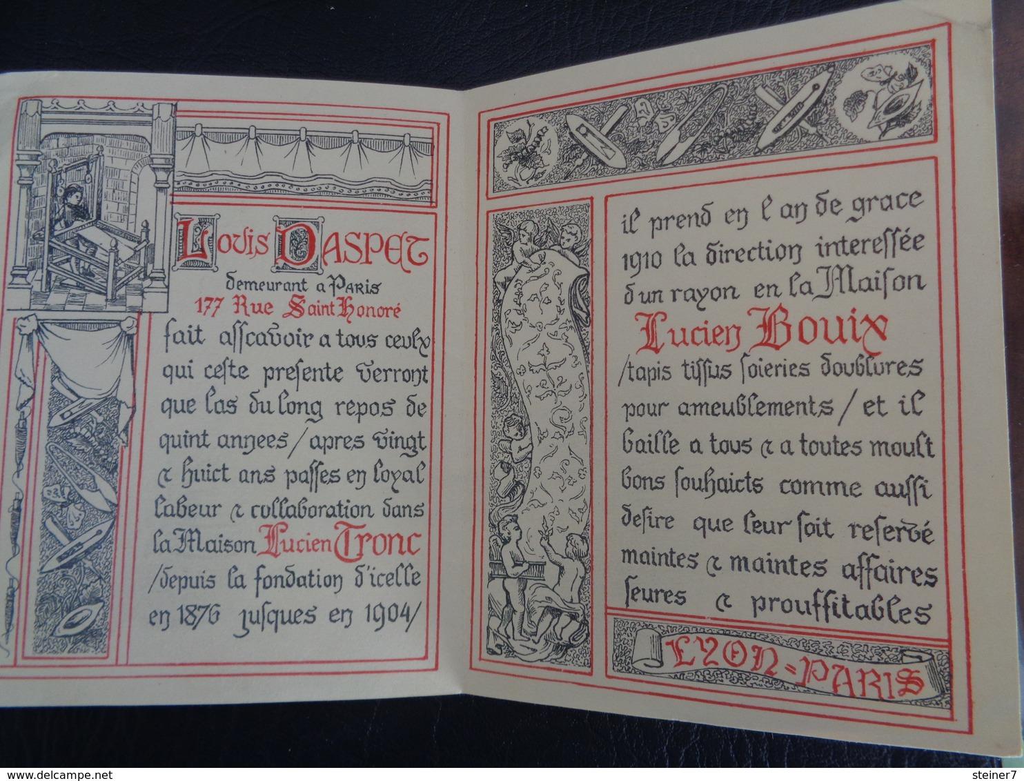 Louis Daspet De La Maison Lucien Bouix - Vecchi Documenti