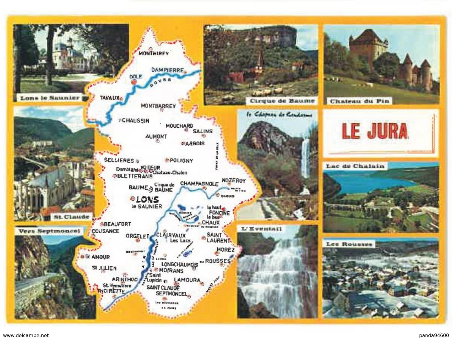 CP Carte Du Jura (39) Vues Diverses - Ohne Zuordnung