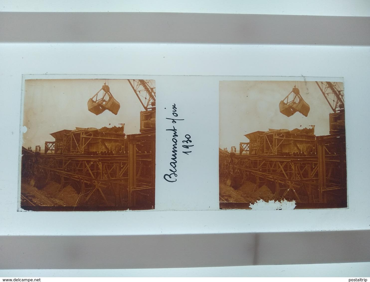 Beaumont S Oise 1930 Stéréo Sur Verre Plaque De Verre Françe - Diapositivas De Vidrio