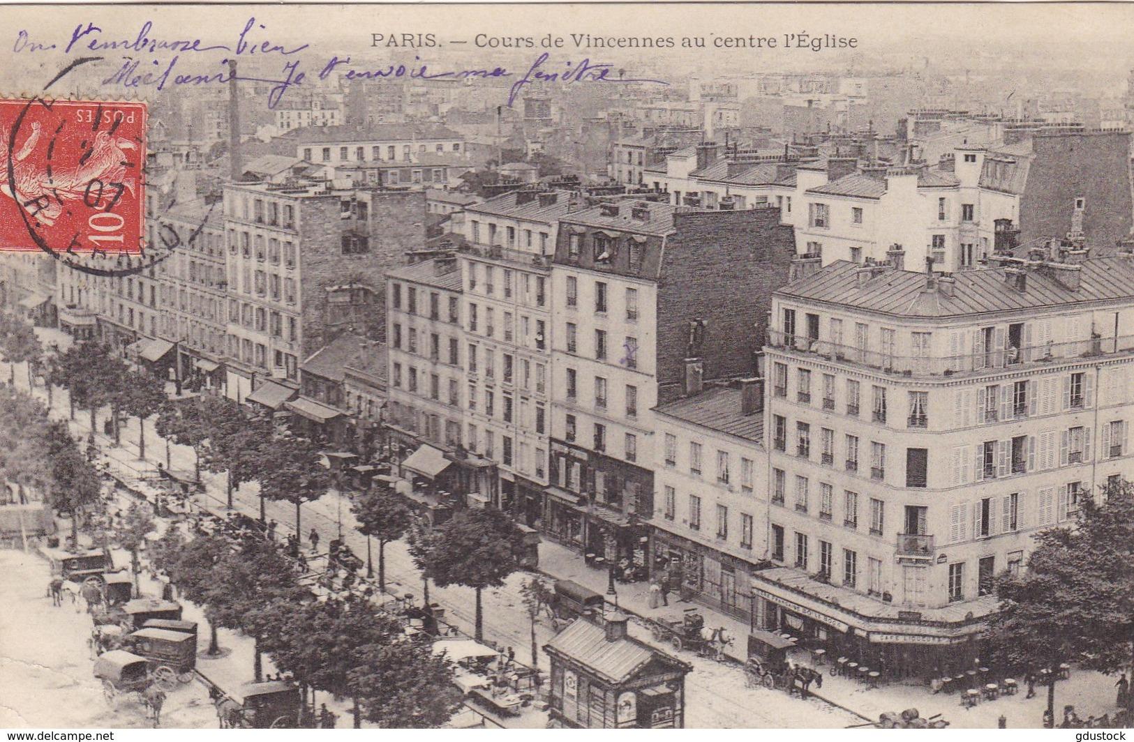 Paris - Cours De Vincennes Au Centre L'église - France