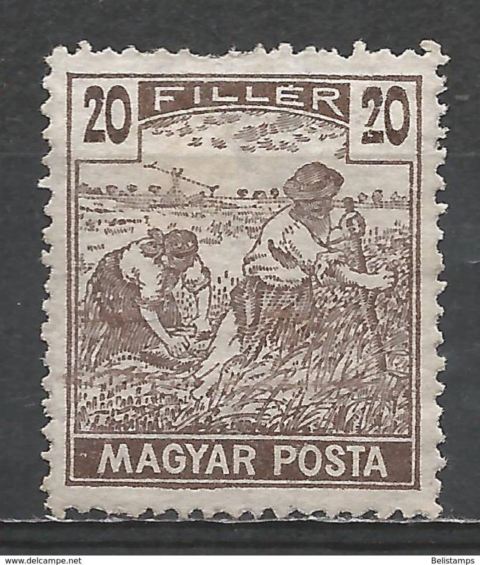Hungary 1919. Scott #181 (M) Harvesting Wheat * - Neufs