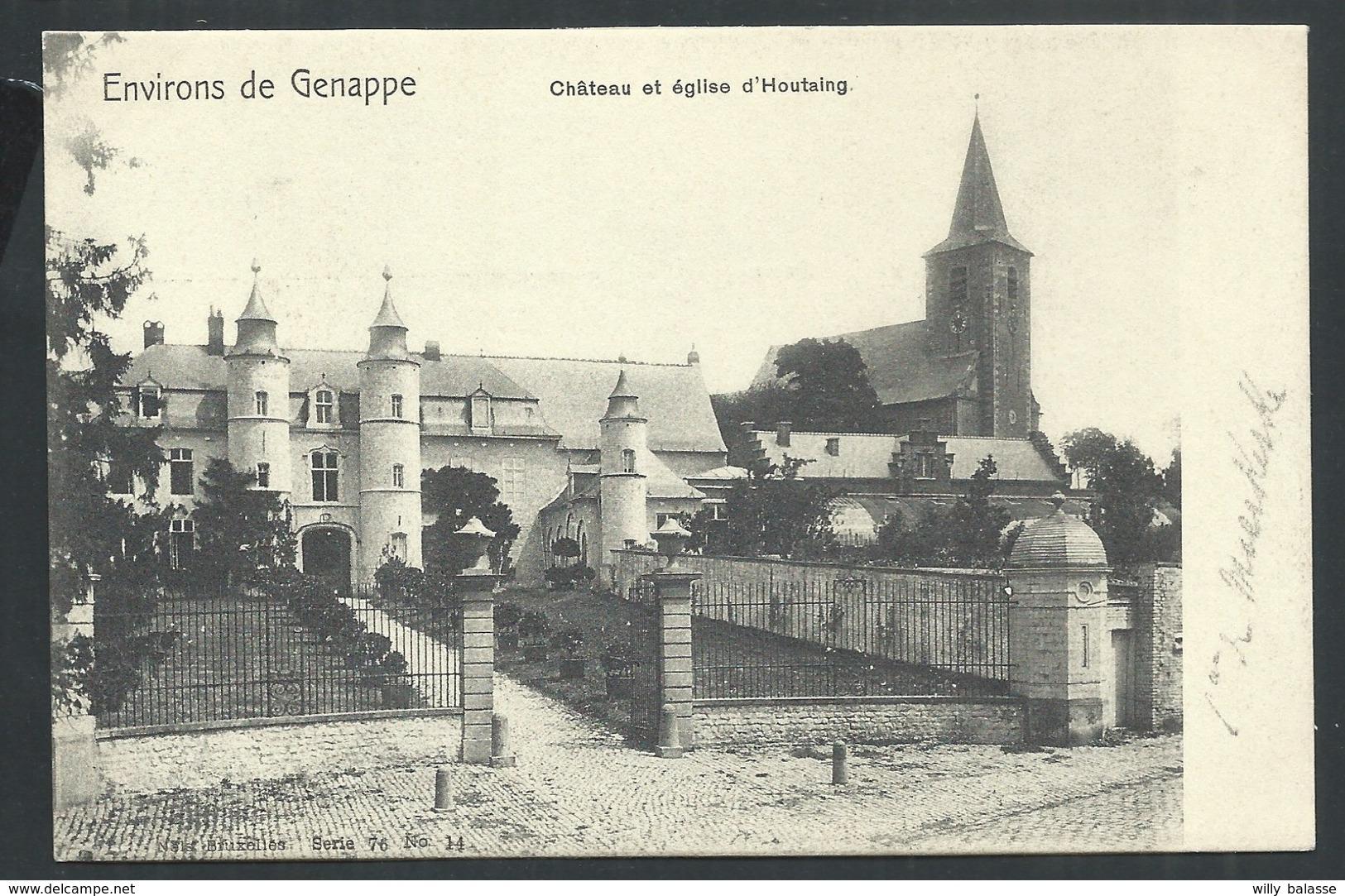 +++ CPA - Environs De Genappe - Château Et Eglise D' HOUTAING - Nels Série 76 N° 14  // - Ath