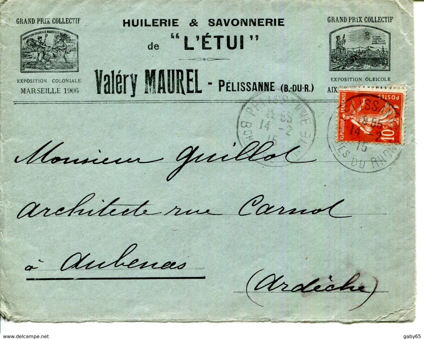 """13.PELISSANNE.HUILERIE & SAVONNERIE DE """" L'ETUI """" VALERY MAUREL. - Alimentare"""