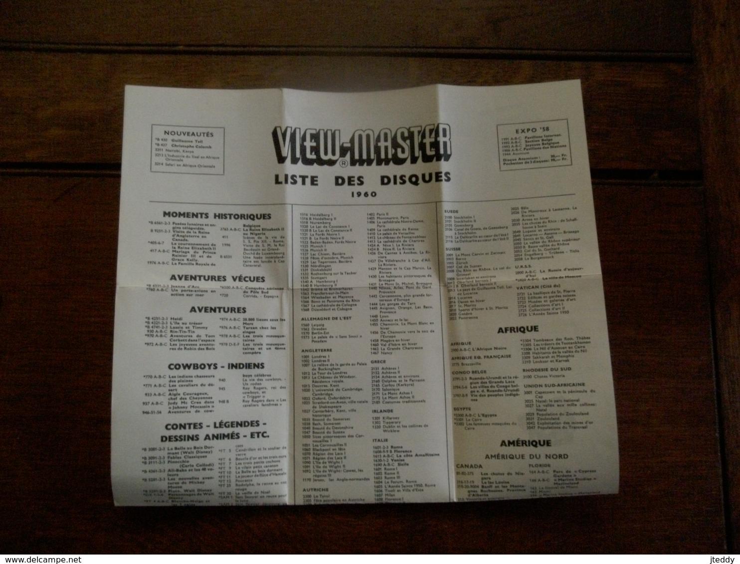 Oude Reklame   VIEW -  MASTER  Liste Des Disques 1960 - Reclame