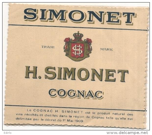 étiquette -  1930 / 60 - COGNAC SIMONET  - - Whisky