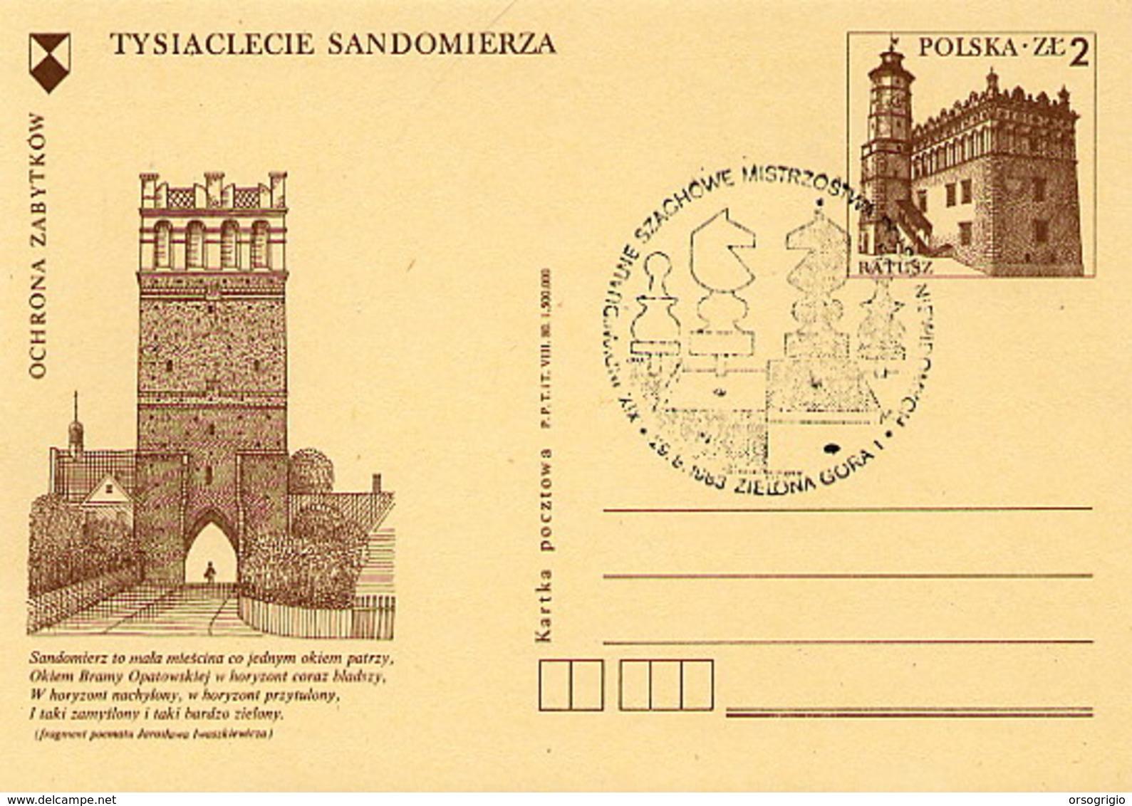 POLONIA POLSKA - ZIELONA GORA  1983 - SZACHOWY - TORNEO DI SCACCHI -  CHESS - Scacchi