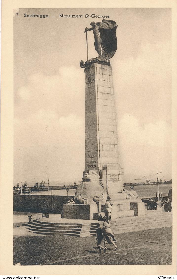 CPA - Belgique - Zeebrugge - Monument St-Georges - Zeebrugge