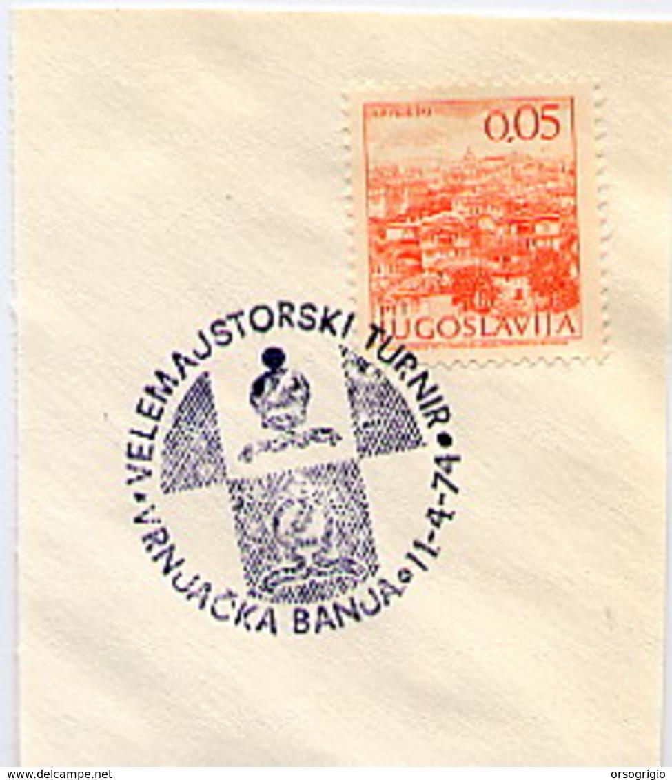JUGOSLAVIA - SZACHOWY - TORNEO DI SCACCHI -  CHESS  -  10 Annulli Figurati Su Frammenti - Scacchi