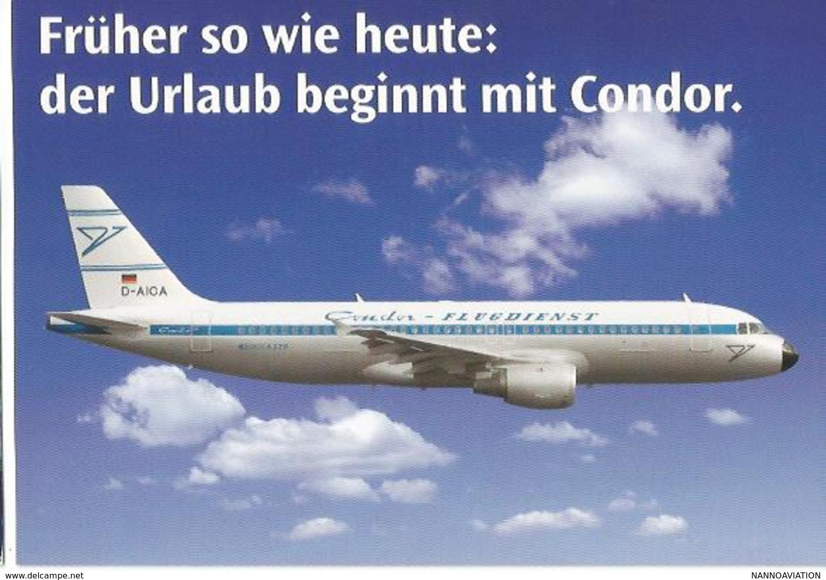 CP AVION PUB COMPAGNIE CONDOR AIRBUS A 320  CONDOR FLUGDIENST D-AICA - 1946-....: Era Moderna