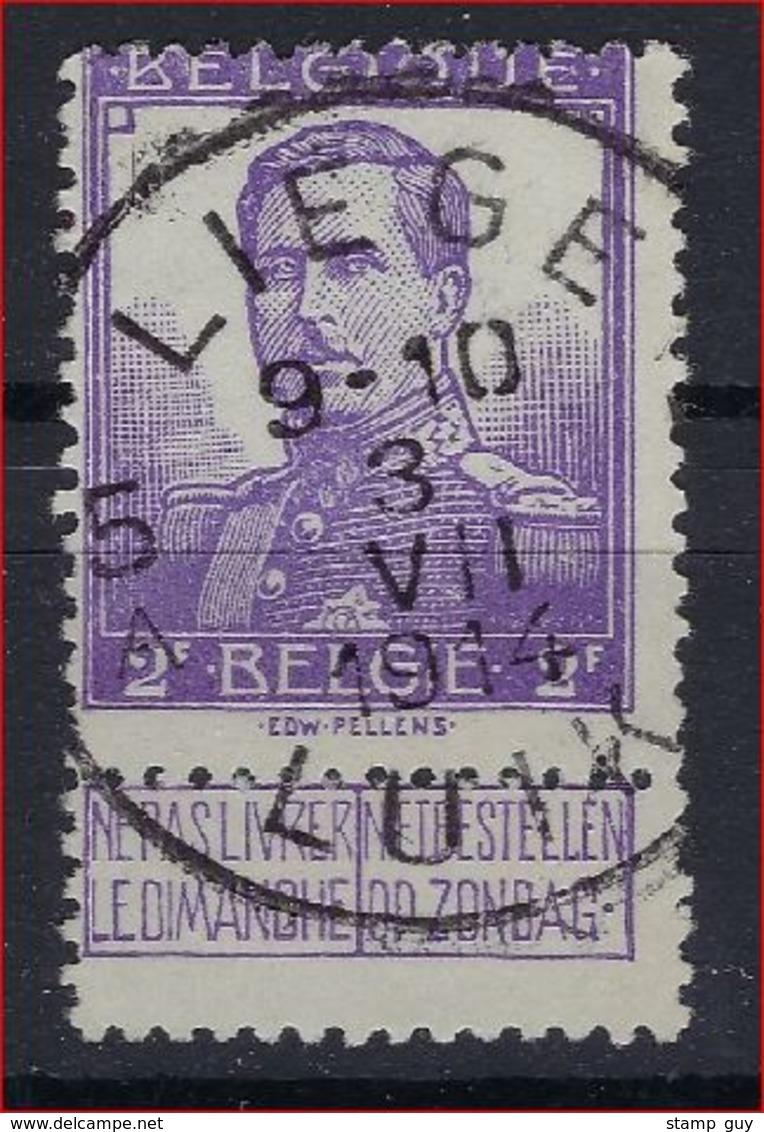 Nr. 117 Met Rondstempel LIEGE 5A In Goede Staat ; Zie Ook Scan ! Inzet 7 Euro ! - 1912 Pellens