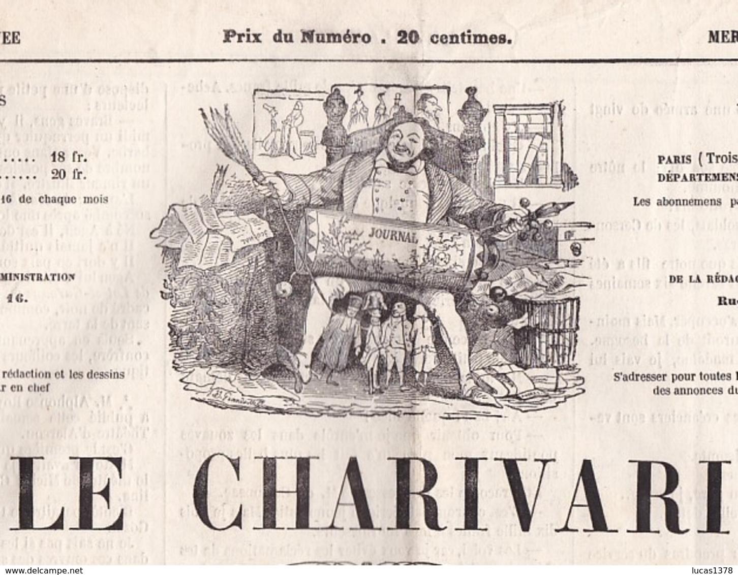 LE CHARIVARI / 12/11/1864 / LITHO CHAM 80 - Journaux - Quotidiens