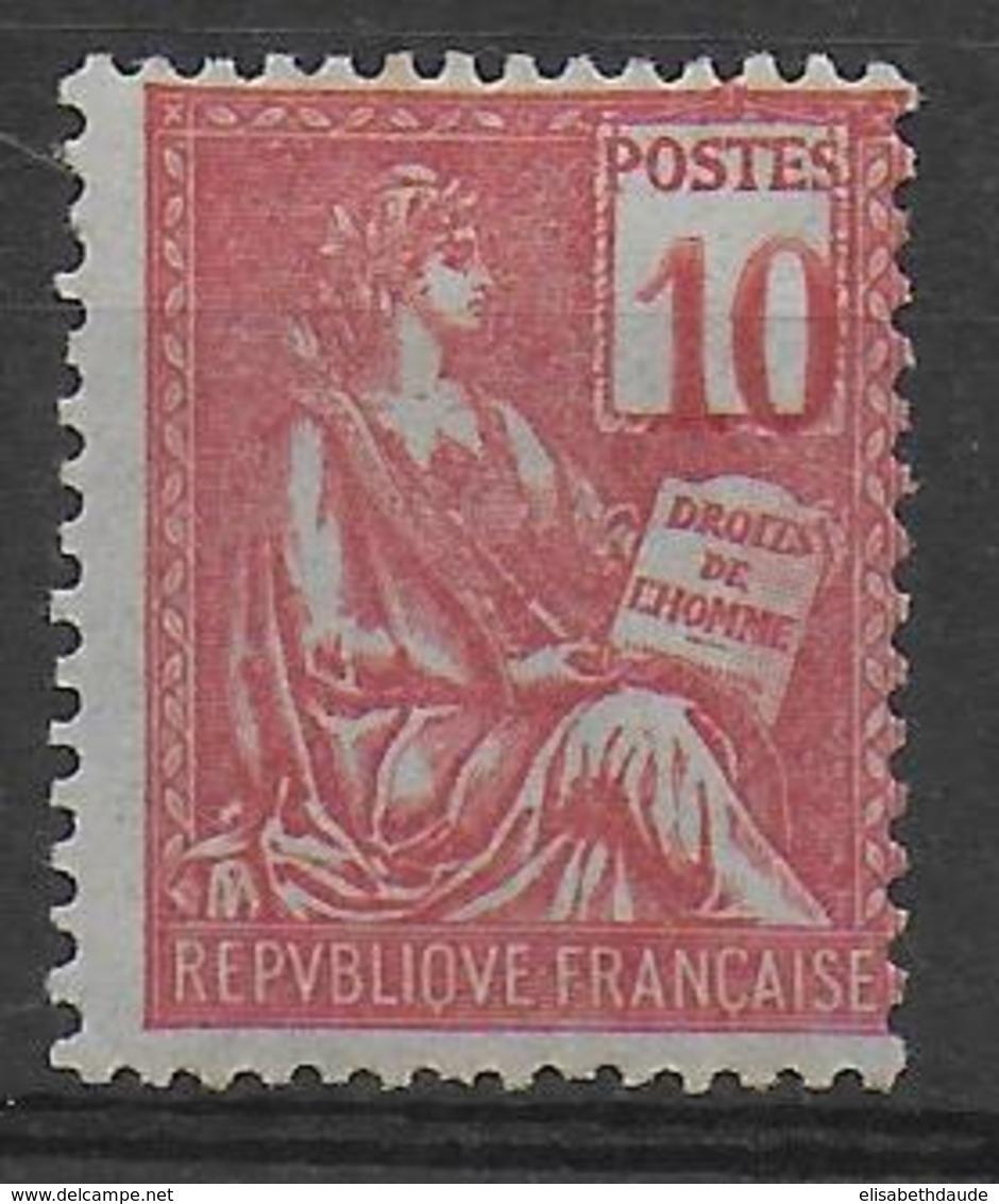MOUCHON - YVERT N°112a * CHIFFRE DEPLACE - ROUSSEUR SUR UNE DENT Du HAUT - COTE = 130 EUR. - 1900-02 Mouchon