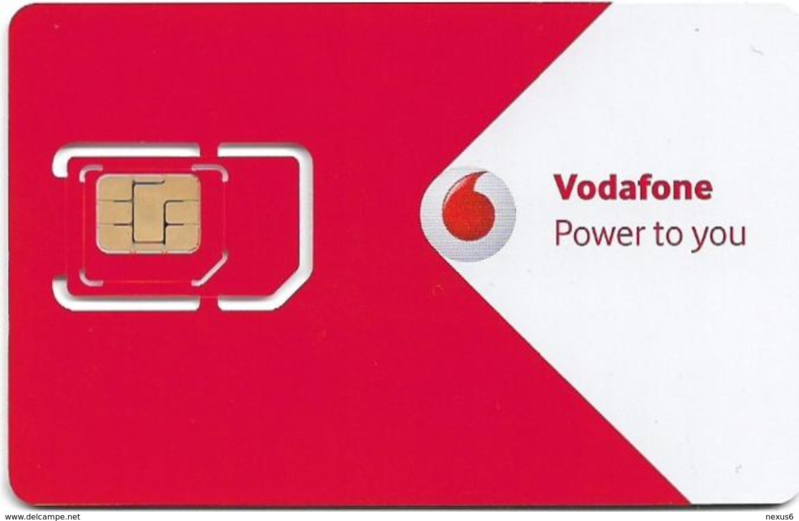 Greece - Vodafone (Red & White 'Cardphone Vodafone') GSM SIM, Mint - Greece