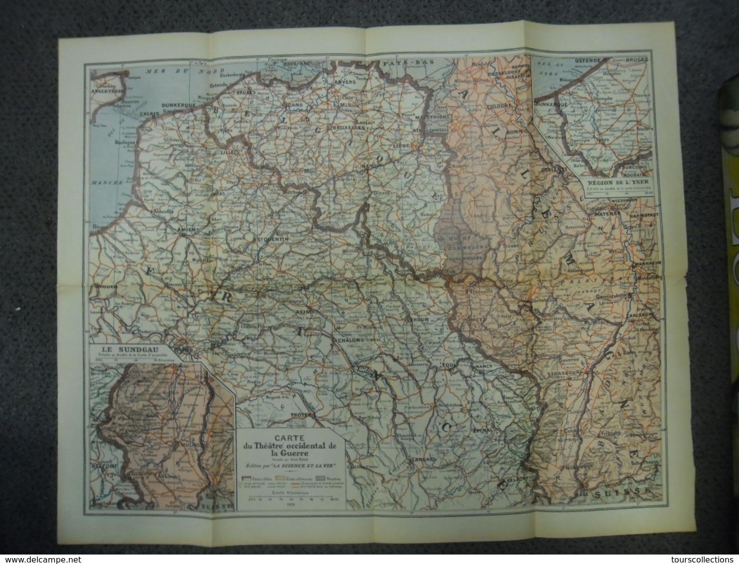Carte De 1915 - GUERRE 1914 1915 Théâtre Occidental Du Conflit - Belgique France Allemagne Luxembourg - Centre à Verdun - Cartes Géographiques