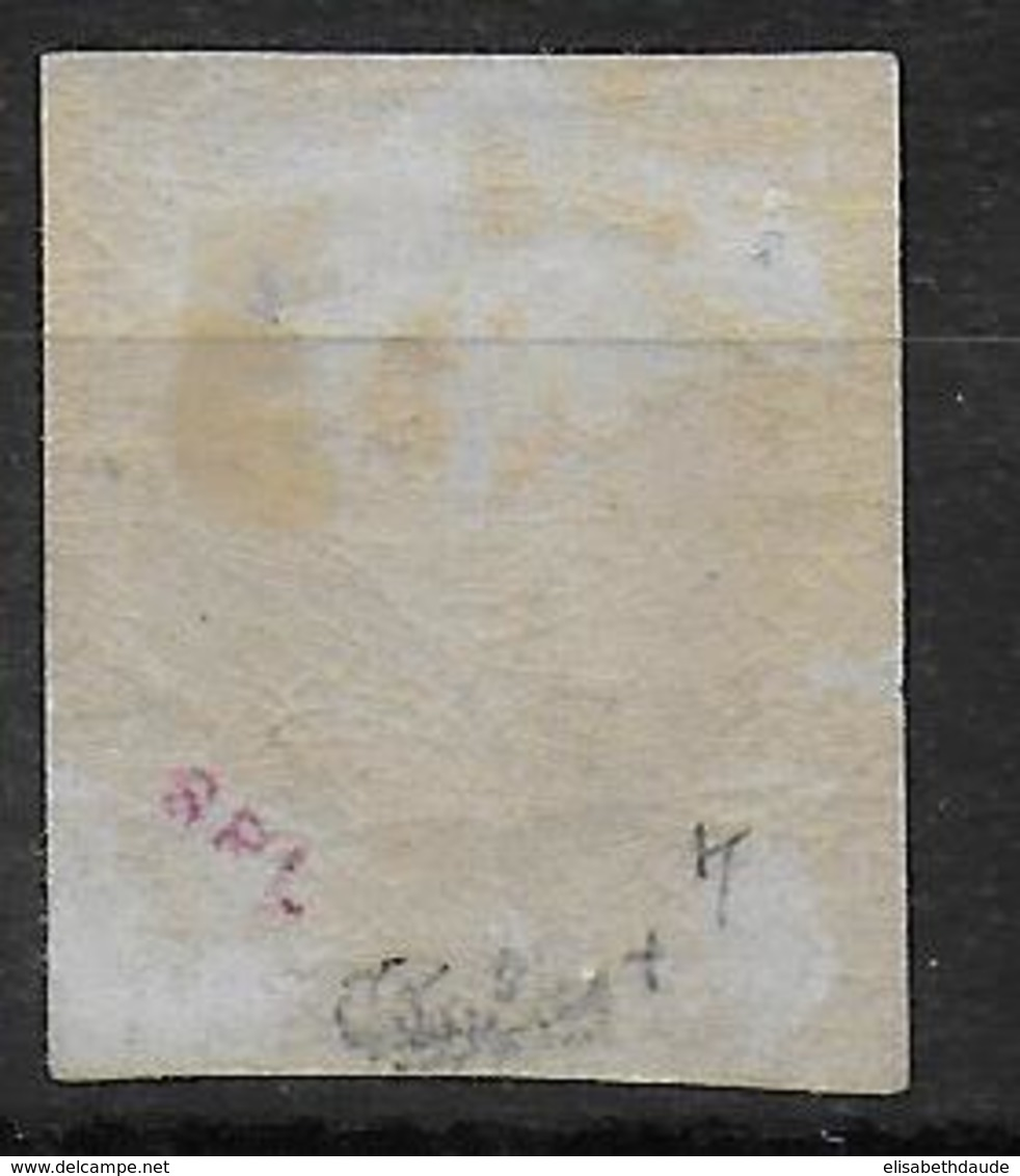 YVERT N° 27Bf - IMPRESSION FINE ROTHSCHILD NON DENTELE * SIGNE CALVES - COTE = 285 EUR. - 1863-1870 Napoléon III Lauré